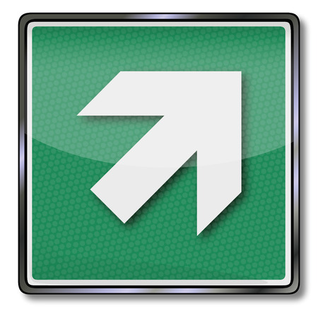Exit sign arrow up right