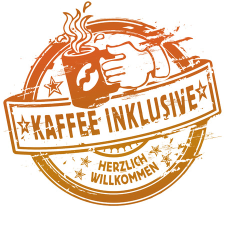 Rubber stamp coffee inclusive