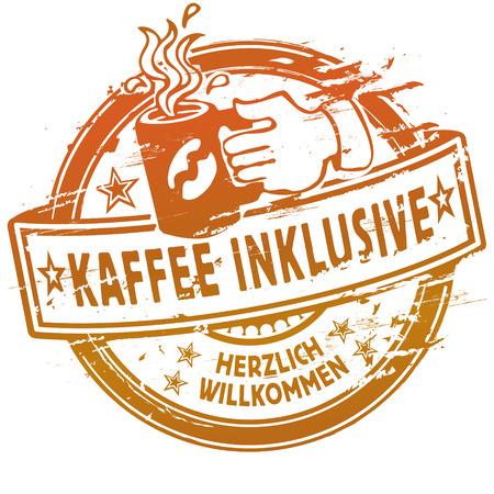 Rubber stamp coffee inclusive Reklamní fotografie - 29391538