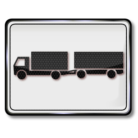 slowness: Sign truck with trailer