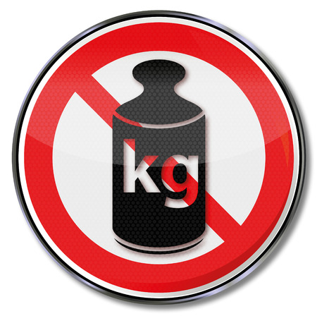 kilogram: Prohibition sign weight and kilogram