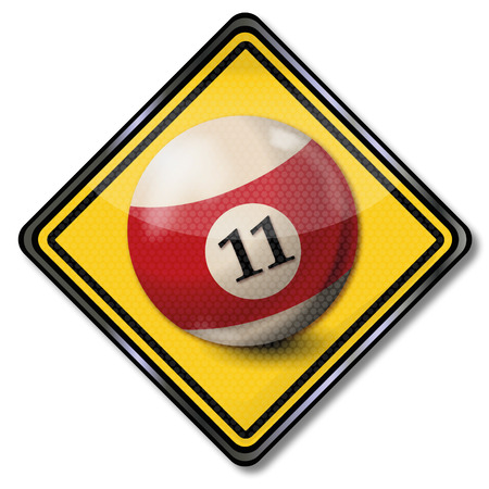 number 11: Sign billiard ball number 11