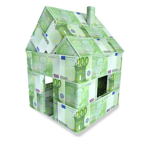 House made of 100 Euro bills