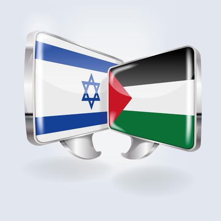Speech in Israeli and Palestinian  Illustration