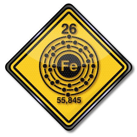 subareas: Sign chemistry character iron