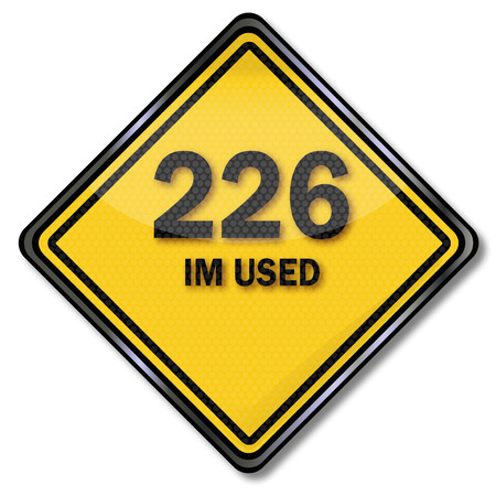 im: Computer sign 226 im used