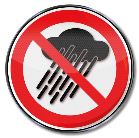 ban: Prohibition sign do not use  device when it is wet or raining