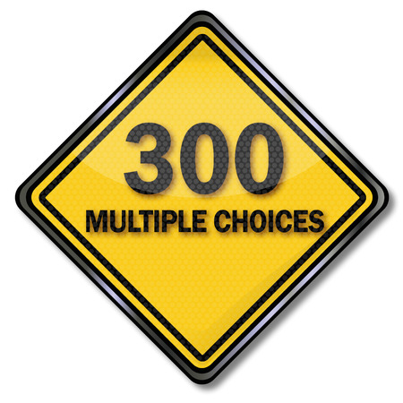 species plate: Computer sign and Computer plate 300 Multiple Choices  Illustration