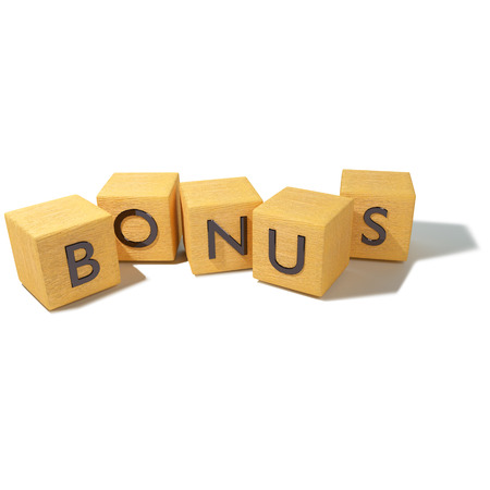 Cubes with bonus  Stock Photo