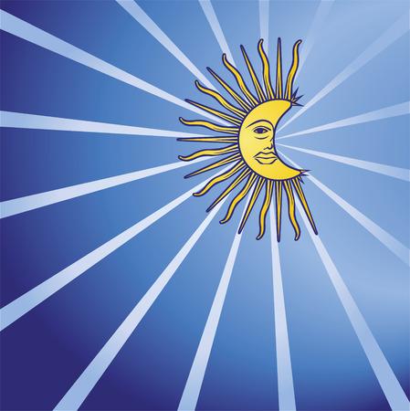 dreamer: Moon in the night sky  Illustration