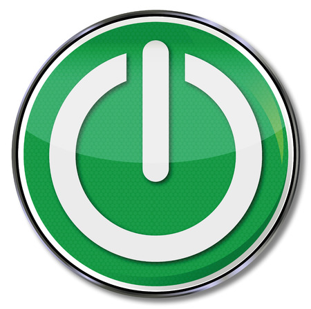 electrical appliance: Bot�n de encendido verde