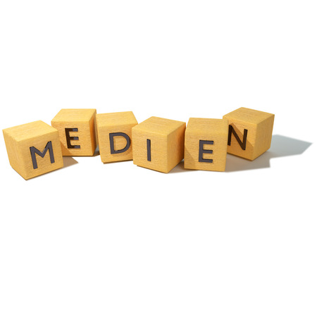 make public: Wooden dice with media