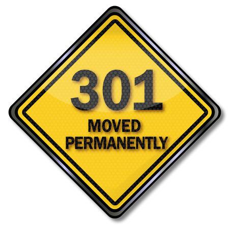 Permanent: Computer teken en computer plaat 301 permanent verplaatst