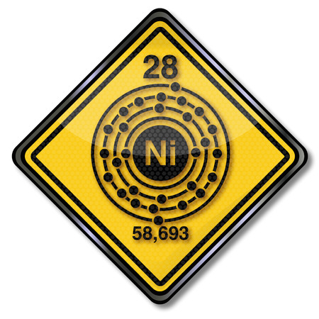 chemical bonds: Sign chemistry character nickel