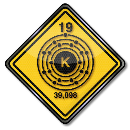 chemical bonds: Sign chemistry character potassium