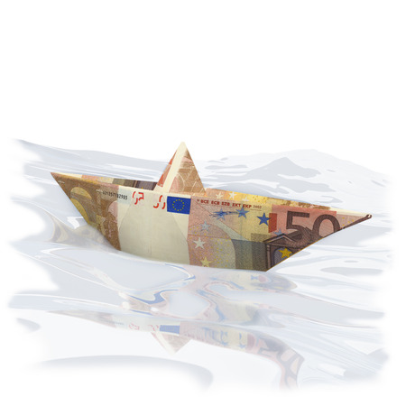 possession: Paper boat with 50 euros