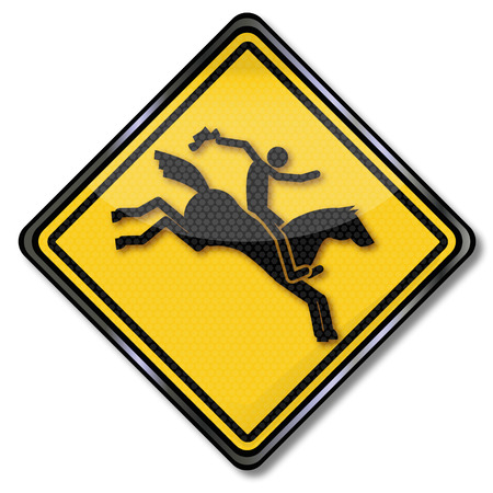 challenger: Sign with equestrian and rodeo