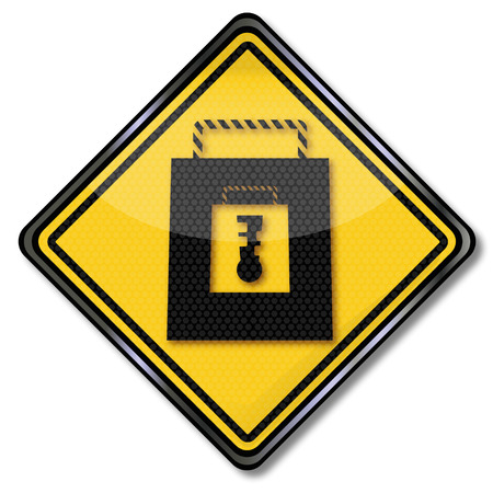 safety sign: Shopping sign securely while shopping