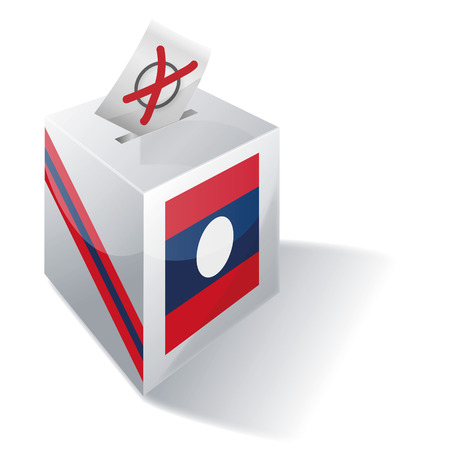 voters: Ballot box Laos