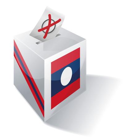absentee: Ballot box Laos