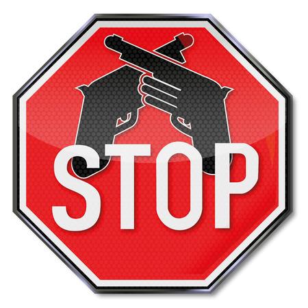 dictature: Panneau d'arr�t pour les armes
