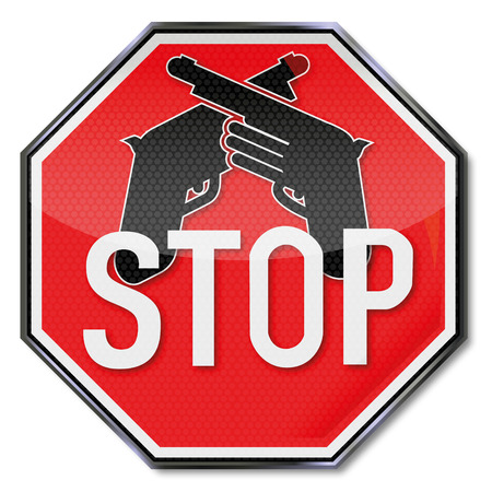 Stop sign for weapons Vector