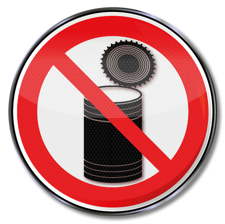 Prohibition sign with canning dose Vector