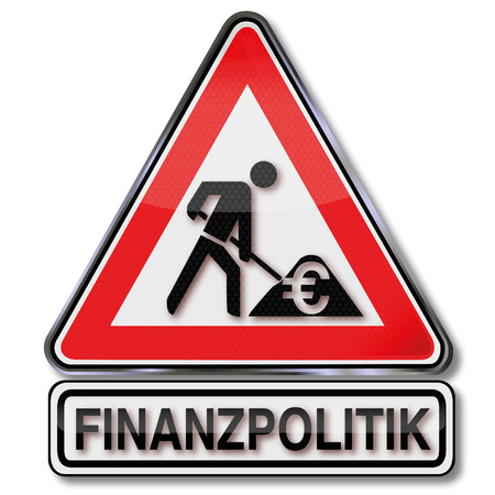 Warning sign construction and fiscal policy Vector