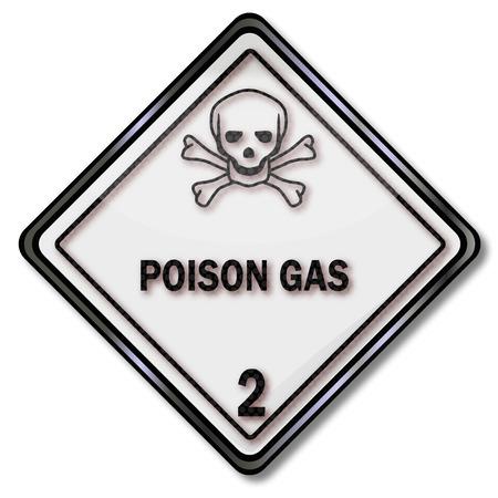 sustancias toxicas: Señal de advertencia de transporte de sustancias tóxicas y gas