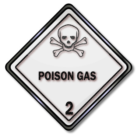 toxic substances: Transport sign warning of toxic substances and gas