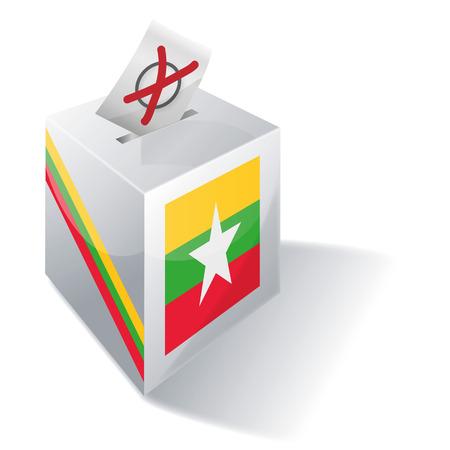 burmese: Ballot box Myanmar