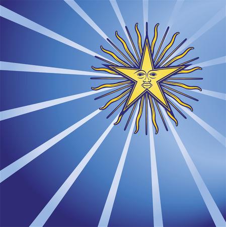 zeitlos: Stern in den dunkelblauen Himmel Illustration