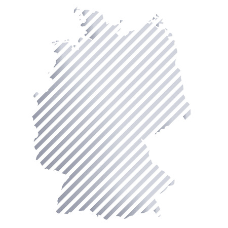 Map of Germany in strips