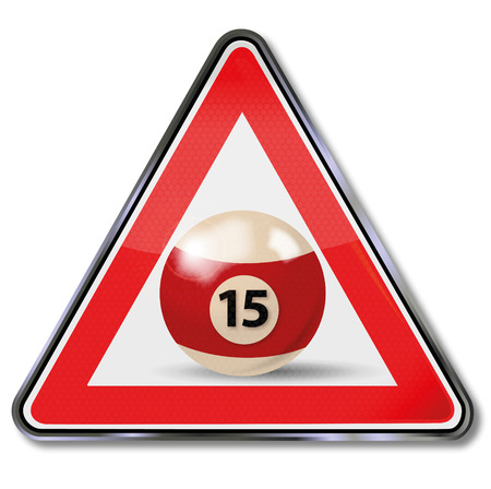 fortunately: Sign billiard ball number 15