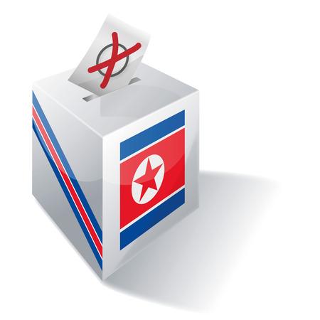 Ballot box North Korea Vector
