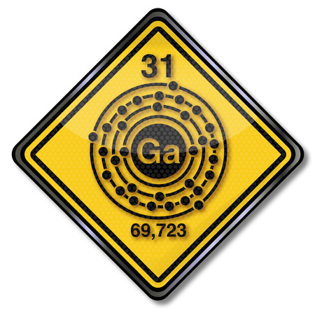 Sign chemistry character and chemical characters gallium Vector