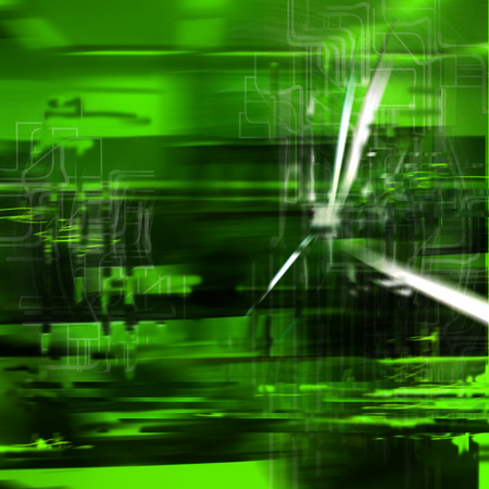 overheating: Abstract background with blurred green