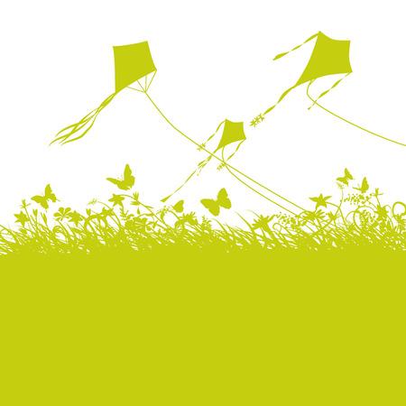 paper kite: Kite flying Illustration