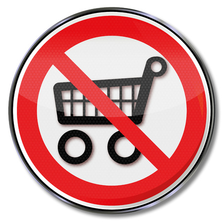 rip off: Prohibition sign for shopping carts and shopping