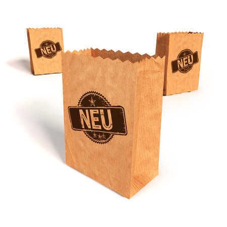 disembark: Paper bags with New  Stock Photo