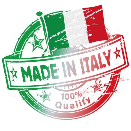 Rubber stamp made in Italy Vector