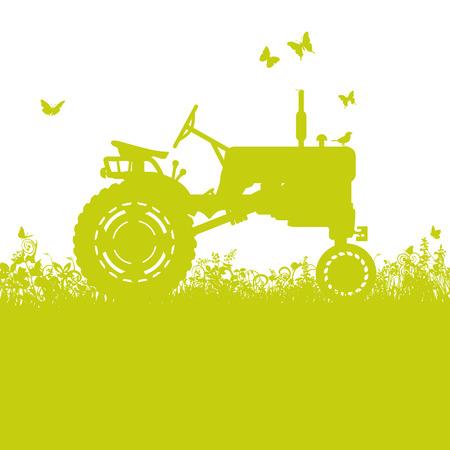 old tractor: Tractor op weide