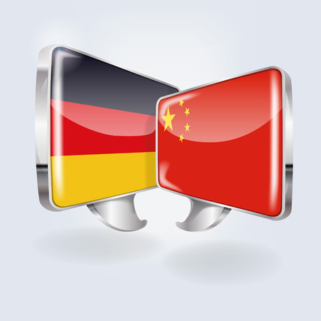 Bubbles with Germany and China Vector