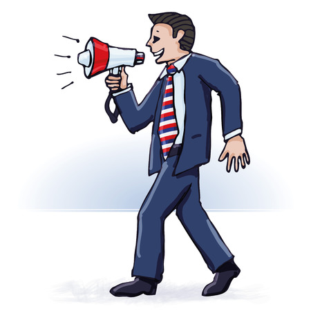 Businessman and and megaphone