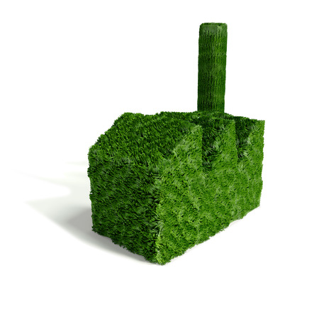 building industry: Small green grass building industry