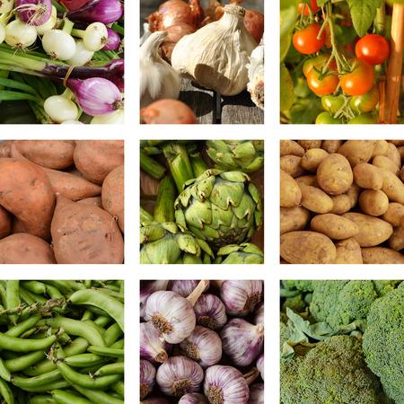 supermarket series: Nine images of vegetables