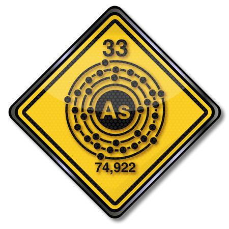 enlaces quimicos: Firma qu�mica y caracteres qu�micos ars�nico