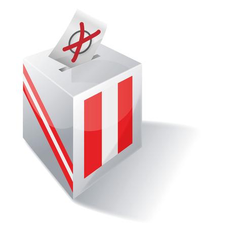 federal election: Ballot box Peru