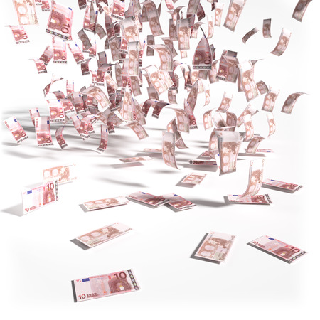 severance: Pennies from 10 Euro notes