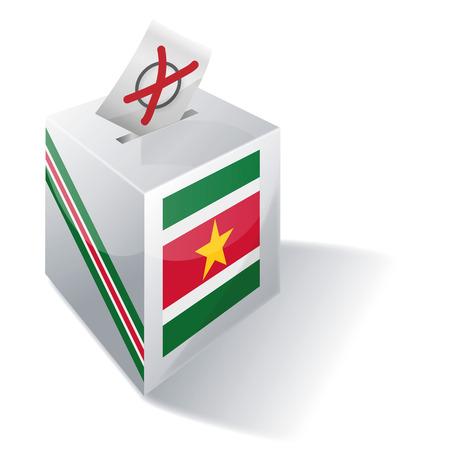 absentee: Ballot box Suriname